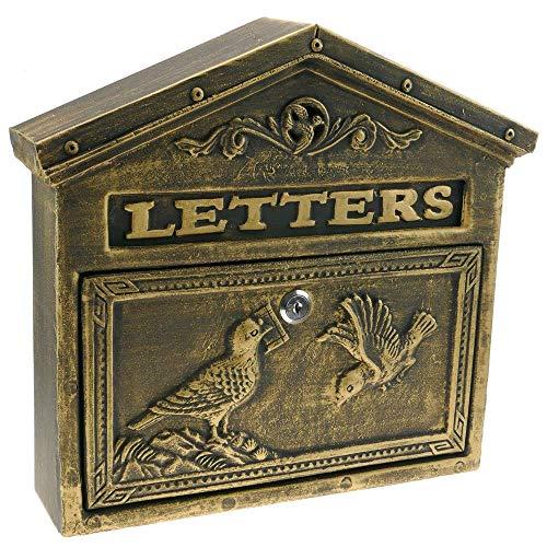 PrimeMatik - Buzón Antiguo de Hierro colado para Cartas y C