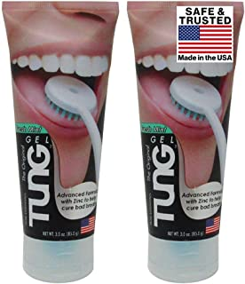 Peak Essentials   The Original Tung Gel   Premium   Tongue Cleaner   Odor Eliminator   Fight Bad Breath   Fresh Mint   BPA...