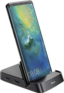 لمحطة توصيل سامسونج، قاعدة قاعدة شحن من النوع C HUB من النوع C لهاتف Samsung Galaxy S10/S9/S8/S10+/S9+ Note 9/8 Dex statio...