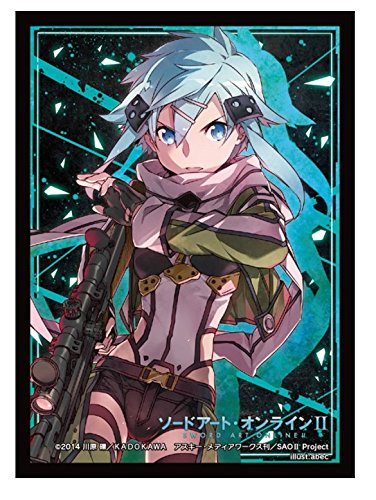 Sword Art Online II Sinon Card Game Character Sleeves Collection HG Vol.808 SAO 2 Gun Gale GGO Asada Shino Anime Sniper Girl Hecate High Grade image