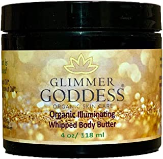 Organic Bronze Body Shimmer Whipped Body Butter – Super Sparkle For Natural Skin Radiance – Chemical Free Shimmering Moisturizer - Glimmer Goddess