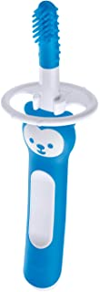 MAM Massaging Toothbrush, Baby Toothbrush and Gum Cleaner and Massager, Boy, Blue, 3+ Months