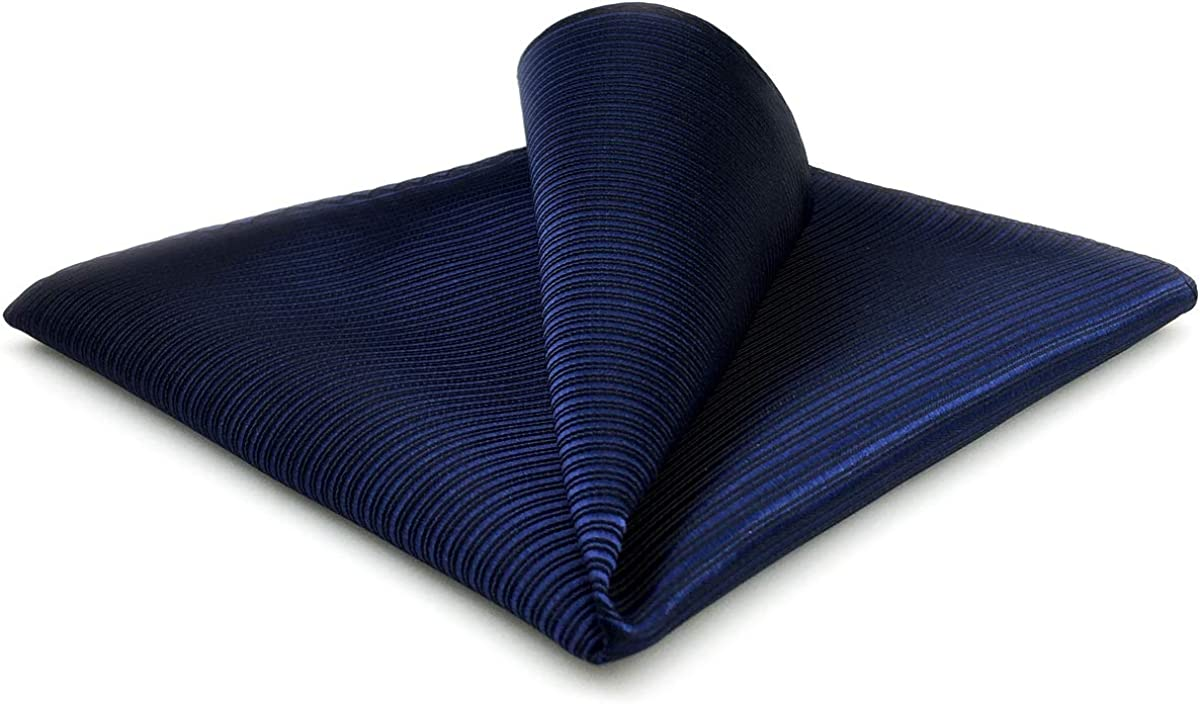S&W SHLAX&WING Solid Navy Blue Pocket Square for Men New