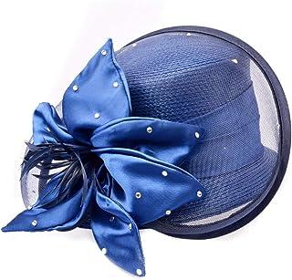 Womens Ladies Church Fascinator Tea Party Bridal Wedding Hat,LightBlue