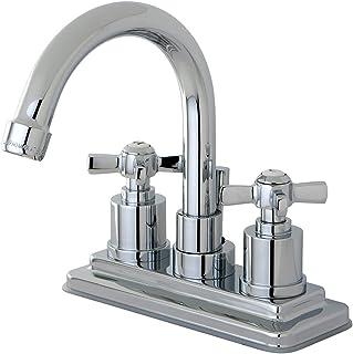 KINGSTON BRASS KS8661ZX Millennium 4-Inch Centerset Lavatory Faucet with Brass Pop-Up, Polished Chrome