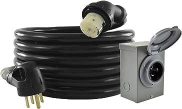 Conntek GIB1450-025 Duo-Rain Seal 50Amp Power Inlet Box and Temp Power Cord Combo Kit, 25 Feet