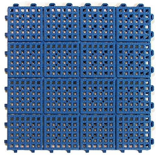 Greatmats Patio Outdoor Tiles 11-5/8 x 11-5/8 x 1/2 inch for Wet Area Tile, Outdoor Flooring, Pool Surrounds, Deck Top Floors, Boat Decks, 30 Pack (Blue)