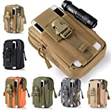 Efanr Universal Outdoor Tactical Holster Military Molle Hip Waist Belt Bag Wallet Pouch Purse Phone Case with Zipper Compatible with Samsung Galaxy S7 S6 LG HTC and More Smartphones (Camouflage-5)