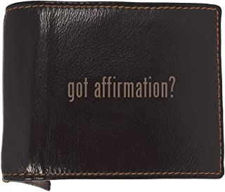 got affirmation? - Soft Cowhide Genuine Engraved Bifold Leather Wallet
