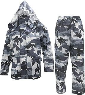 Noxus Men's Rain Suit Camouflage Rain Jacket and Pants Rainwear Sets Rainsuit