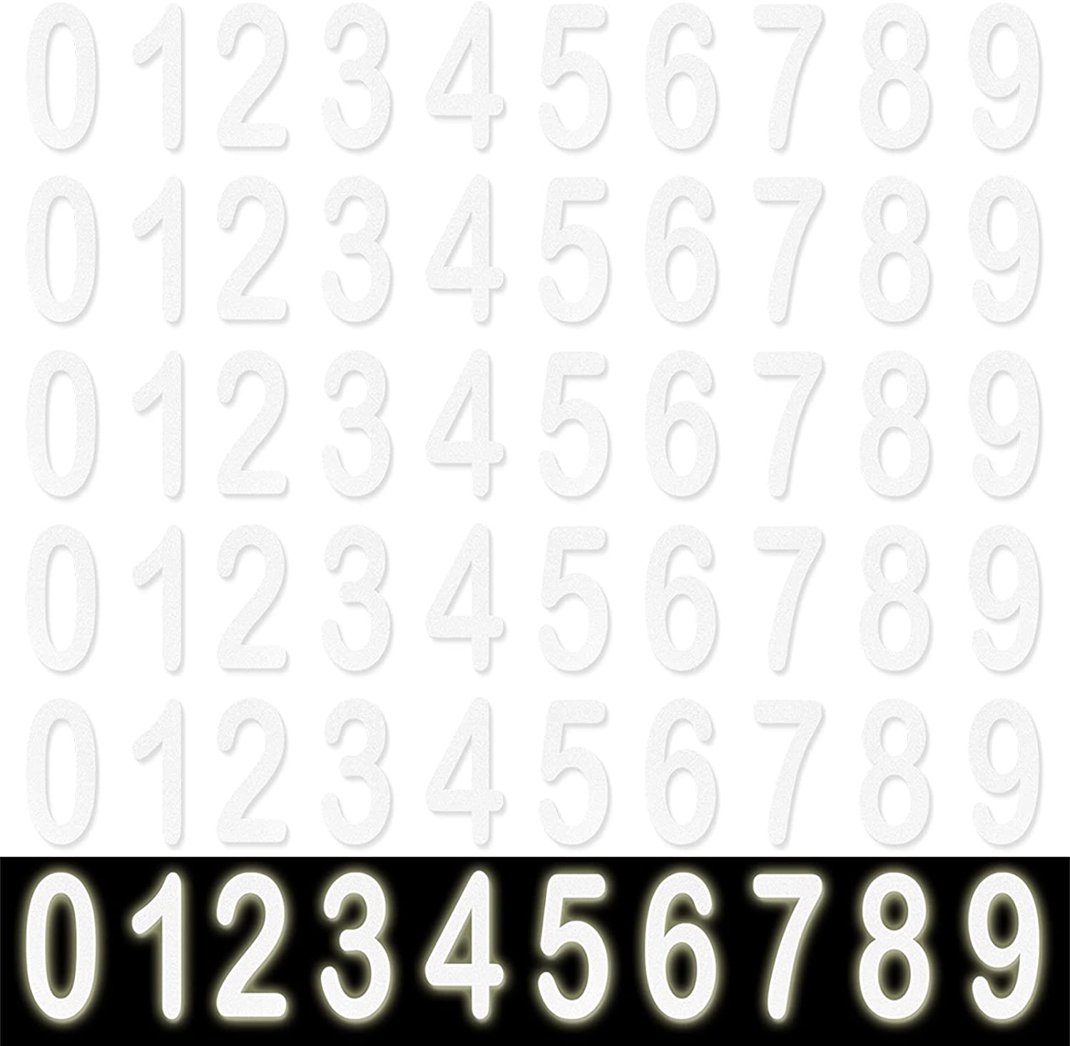 Genuine Free Shipping Anvin 60 Pieces Mailbox Numbers OFFicial mail order Self-adhesive 0-9 Vinyl Stickers