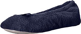 حذاء باليه مسطح لبيت راقصة الباليه من isotoner Women's Chevron MicroTerry