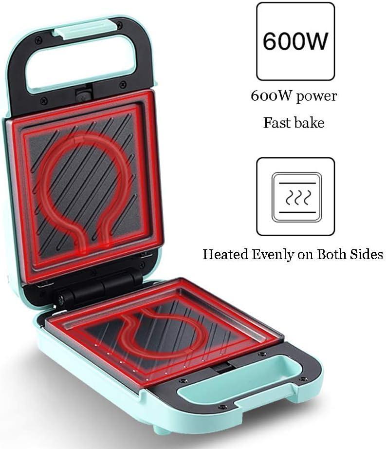 APAN Sandwich Toaster-Waffeleisen,mit automatischer Temperaturregelung,beidseitig gleichmäßig beheizt,Tiefe Antihaft-Beschichtungsplatten,ideal zum Frühstück,600 W,B. B