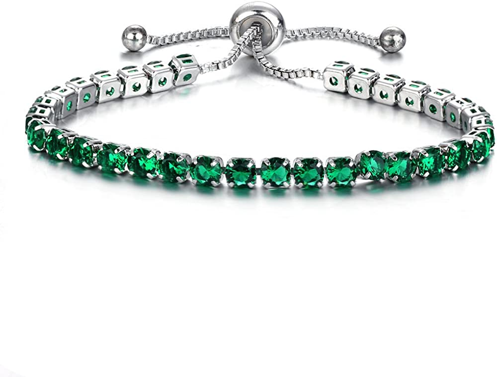 Adjustable Free shipping Bolo Style Tennis Bracelet for Swarov Classic Women Made with