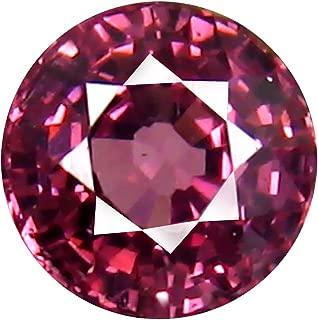 0.77 ct AAA+ Grade Round Shape (5 x 5 mm) Unheated Pink Malaya Garnet Natural Loose Gemstone