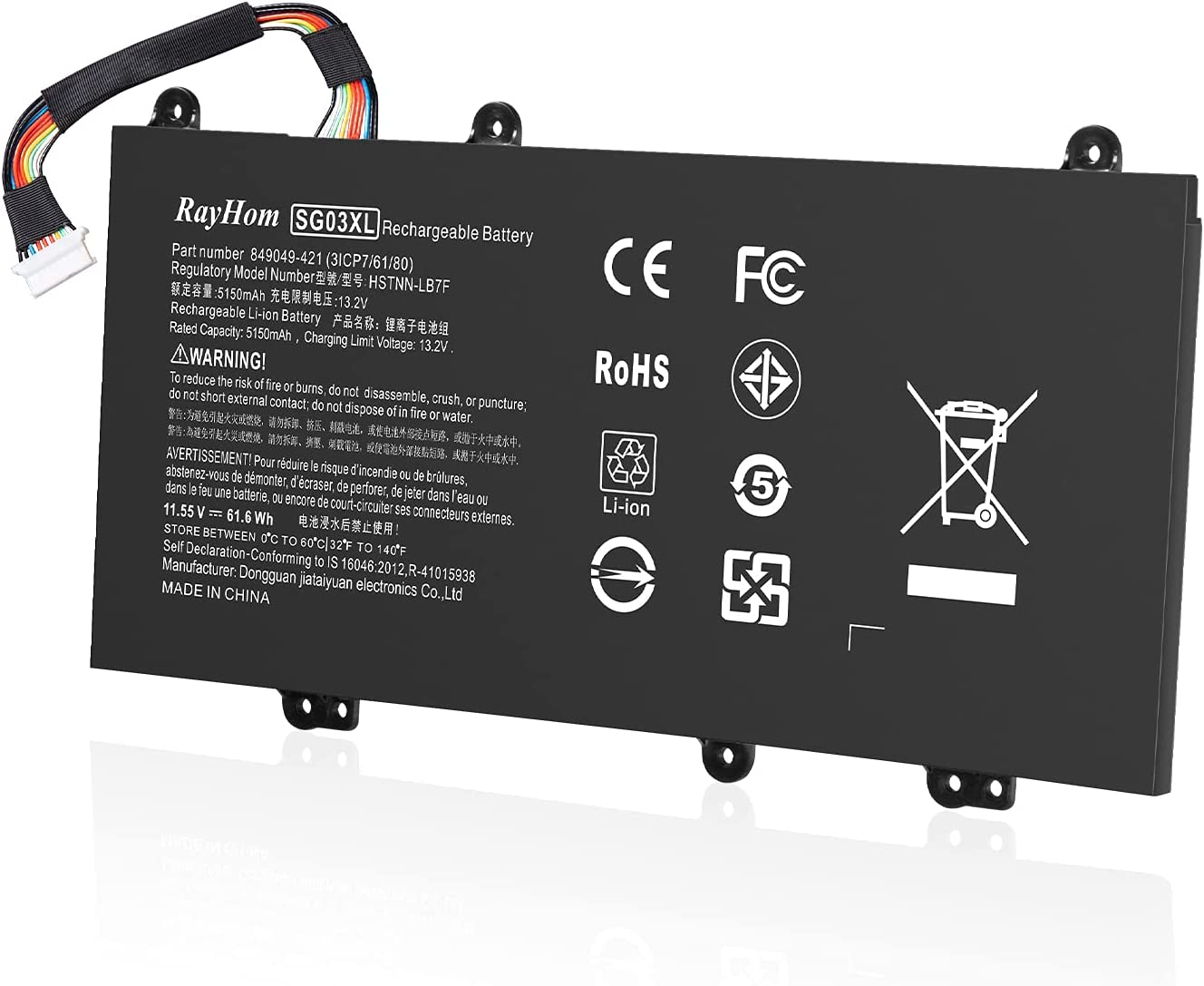 RayHom SG03XL SG03061XL Laptop Battery Max 76% OFF - 17-U000 HP Envy M7 Spring new work for