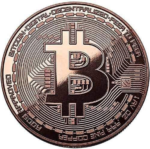 High order Bitcoin Copper Round - 1oz Pure Coin Please cheap Plated Not