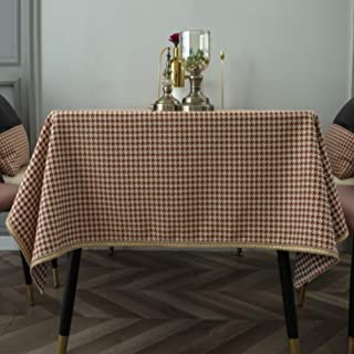 SHJMANJZ Linge De Coton Épais Nappe Doux Classique Housse Table Style Nordique Housse Table Table à Manger Buffet Parties ...