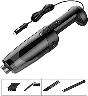 Car Vacuum Cleaner 12V 120W Car Hoover 5000PA Much Stronger Suction Potable Handheld Auto Vacuum Cleaner with 4.5M Power Cord, Carrying Bag, Cleaning Brush