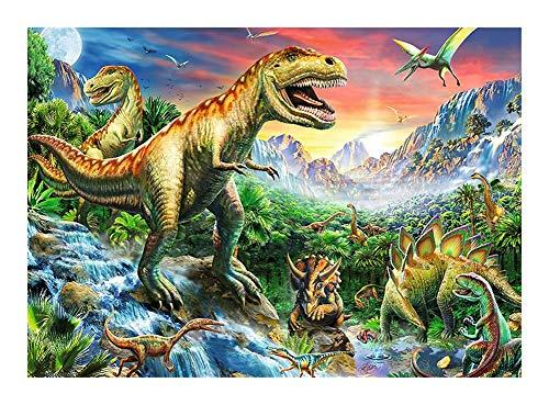 JCCOZ -P Puzzle Animal World – Jurassic Era Dinosaurio Rompecabezas 300/500/1000 piezas Puzzle, decoraciones únicas para el hogar y regalos para niños P (tamaño : 300 piezas)