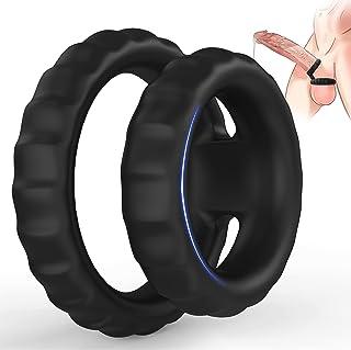 Silicone Dual Cock Ring, Ultra Soft Liquid Premium...
