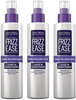 John Frieda Frizz-Ease Daily Nourishment Leave-In 8 Ounce (235ml) (3 Pack)