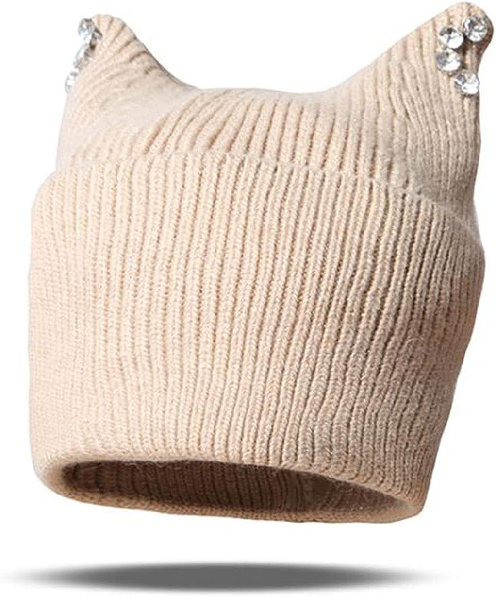 famous Knit Beanie Hats for Women Cute Warm Philadelphia Mall Eares Winter Cat Croch