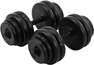 Giantex 66 Lbs Adjustable Dumbbell Set with Metal Handle Barbell Plates for Body Workout, Dumbbell Weights, Black