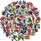 Avengers Superhero Stickers for Laptop(104pcs),Graffiti Waterproof Stickers for Hyadro flasks Water Bottles Skateboard Bike Luggage,Superhero Decals Party Favors for Teens