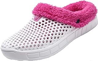 Men's Women's Lined Clogs Fur Plush Warm Winter Garden Shoes
