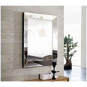 DISARTE - Espejos Modernos de Cristal - Palermo Rectangular (95x75): Amazon.es: Hogar