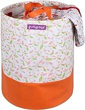 PrettyKrafts Canvas Laundry Bag, Toy Storage, Laundry Storage (45 L) - Orange Printed