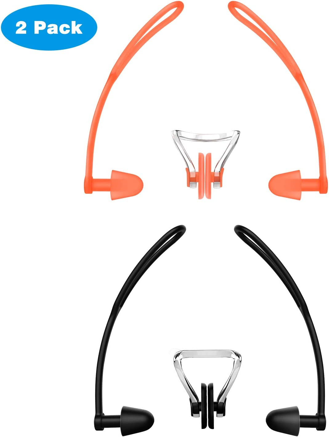 MoKo Washington Mall Swimming Nose Clips and Ear Straps Plugs 2 Wat with Pack Max 59% OFF