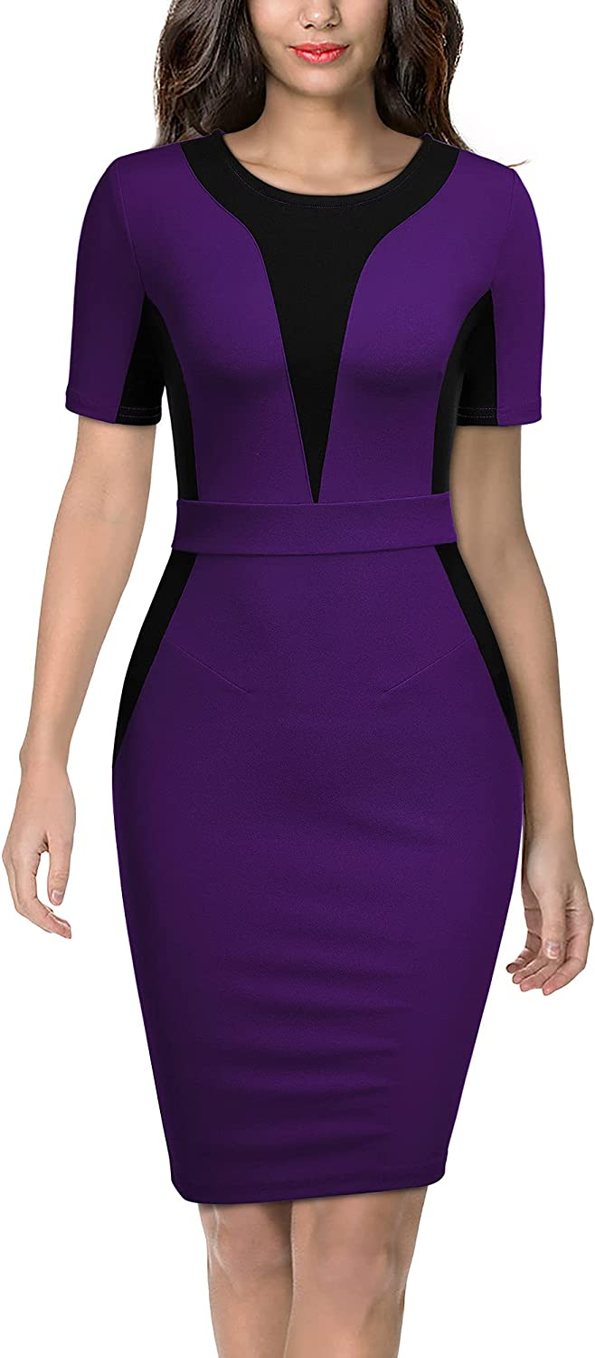 A surprise price Max 75% OFF is realized Miusol Women's Work Style Color Contrast Dress Business Pencil