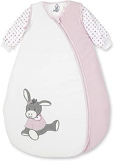 Sterntaler Sovsäck för småbarn, avtagbara ärmar, värmereglering, dragkedja, storlek: 70, Emmi flicka, vit/rosa