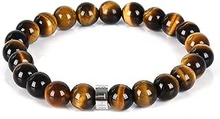 THREE KEYS JEWELRY 8mm Semi Precious Gemstone Beads Bracelet 7