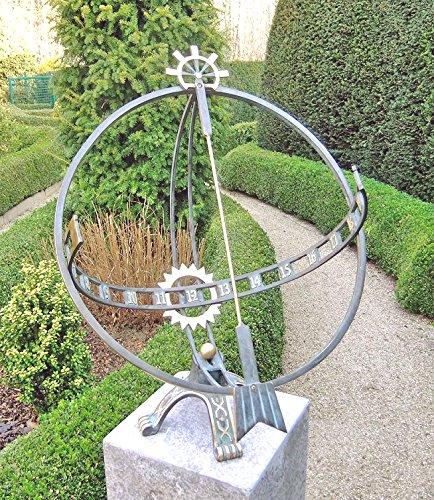 H. Packmor GmbH Bronzeskulptur Große Sonnenuhr - Dekoration für den Garten - 49x66x52 cm
