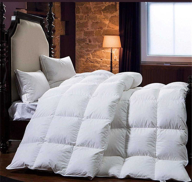 WanJiahomengrenerop 100% Duvet de Canard Duvet d'oie d'hiver Couette Couverture Couverture Duvet de Remplissage de Coton Couverture Twin Single Queen souper King Taille, 150x200cm 2.5kg
