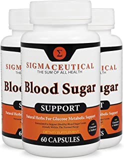 3 Pack of Blood Sugar Support Supplement - Gymnema Sylvestre Extract – Lower a1c Supplement - Chromium Supplement - Stop Sugar Cravings Supplement for Glycemic Balance - 60 Capsules Each