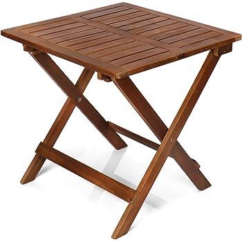 com-four® Mesa Plegable de Madera - Mesa de Madera para jardín ...
