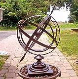 Large 24' Iron Arrow Armillary Sphere