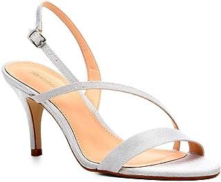 Sandália Shoestock Salto Fino Cetim Feminina
