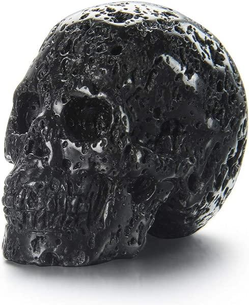 Skullis 2 0 Hot Lava Stone Crystal Skull Hand Carved Gemstone Fine Art Sculpture Reiki Healing Stone Statue