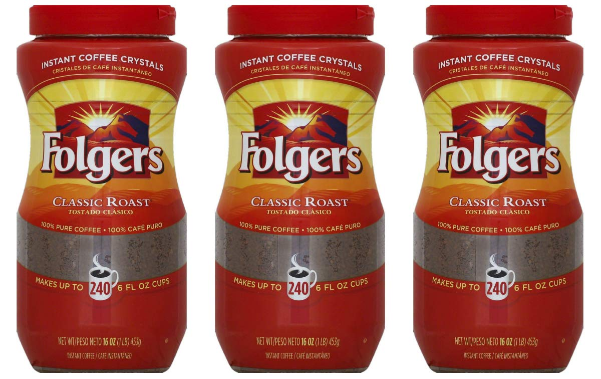 Folgers Classic Roast Instant Milwaukee Mall Coffee oz. Crystals Brand Cheap Sale Venue pack of 16