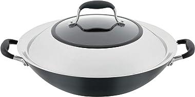 "Anolon Advanced Home Hard-Anodized Nonstick Open Stock Cookware (14"" Wok, Onyx)"