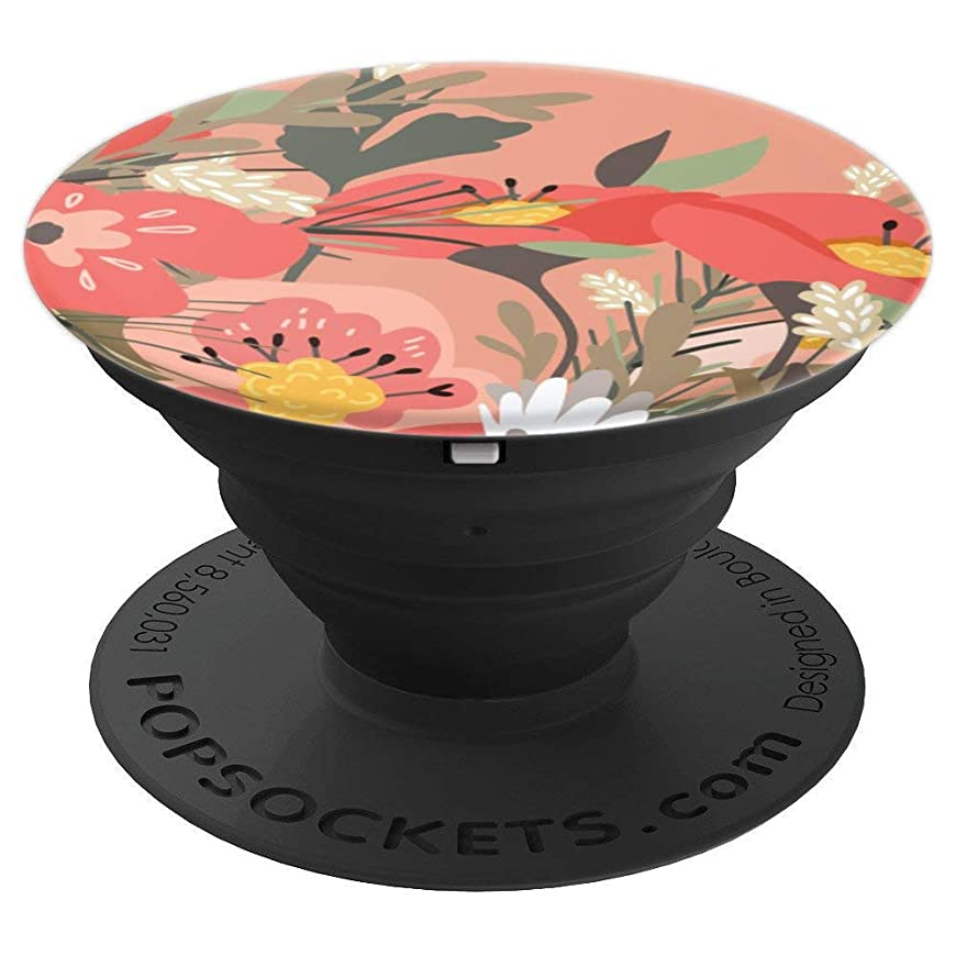 Cute Rose Gold Floral Flower Pattern - PopSockets Grip and Stand for Phones and Tablets nsrpuwmj458