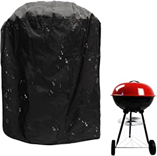 "Grill Cover 2win2buyau Heavy Duty Waterproof Gas Charcoal Electric Fryer BBQ Grill Cover with Elastic Strap Large Universal Fit for Weber Brinkmann Char Broil and Most Brands of Grill –Black (23""x30"")"