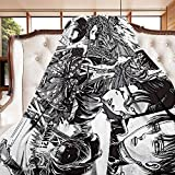 Eisvalaya Levi Ackerman Attack On Titan Flannel Throw Blanket Lightweight Comfy Fluffy Warm Cozy Plush Cover Soft Queen Bed Twin Sofa Office Small 50in40in