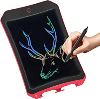 Spring& Writing Tablet for Birthday Gift,Kids Toy 8.5 In Colorful LCD Writing Tablet Electronic Writings Pads Drawing Board Gifts for Kids Office Blackboard-Erase Button Lock Included (Red)