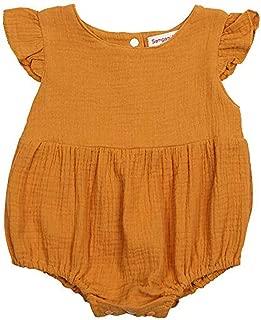 Pwtchenty Einfarbiges Gekr/äUseltes Geraffte Jumpsuit Spielanzug Lang Hosen Overalls M/äDchen Baby Sommer Kleidung